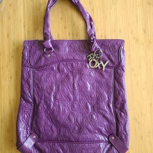 Roxy Purple Patent Large Bag